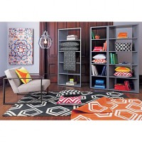 facet grey bookcase in office furniture | CB2