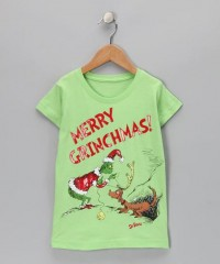 Lime Green 'Merry Grinchmas!' Max Tee - Toddler & Kids | Daily deals for moms, babies and kids
