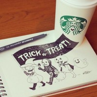Starbucks Coffee Cup Art by Tomoko Shintani | 1 Design Per Day