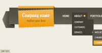 Dropdown Navigation Bar (Free PSD) by duckfiles - Designmoo