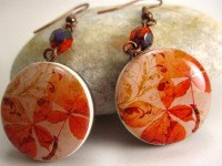 Polymer Clay Earrings Autumn Leaves by curlygirldesigns on Etsy