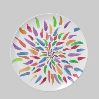 2013 Abstract Floral Party Plate from Zazzle.com