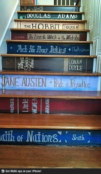 9GAG - The stairs of a book lover.