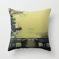 Fog on the River Throw Pillow by RDelean | Society6