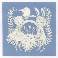 Happy World Papercutting by ~WeedFairy