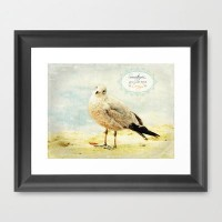 Just Wing It Framed Art Print by RDelean | Society6