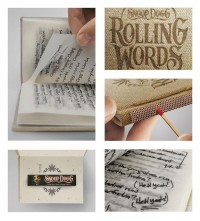 Rolling Words: Snoop Dogg's Smokable Book - The Dieline -