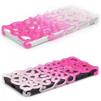 Color Gradient Hollow Vine iPhone 5 Case - Pink | hallomall - Accessories on ArtFire
