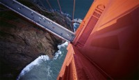 golden bridge looking down photo | one big photo