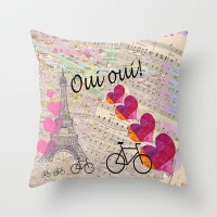 Oui Oui Throw Pillow by Catherine Holcombe | Society6
