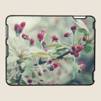 Red Cherry Blossom iPad Case from Zazzle.com