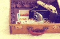 Summer and Travel / suitcase full of pictures