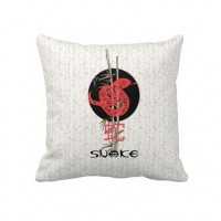 Snake (chinese zodiac) pillow from Zazzle.com