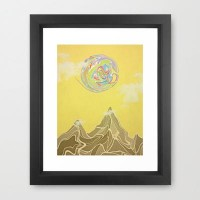 Gravity Framed Art Print by pascal | Society6