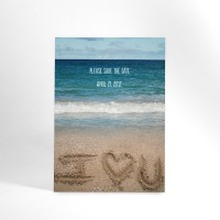 Beach Destination Wedding Save the Date Postcard by ALookOfLove