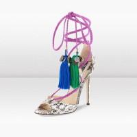 Jimmy Choo Gloss Elaphe Thong Sandals