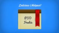 Delicious Notepad & Ribbon PSD | PixelsDaily