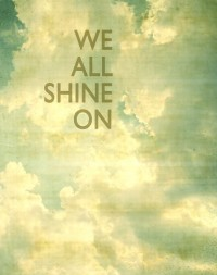 Shine on typographic print inspirational print by CarlChristensen