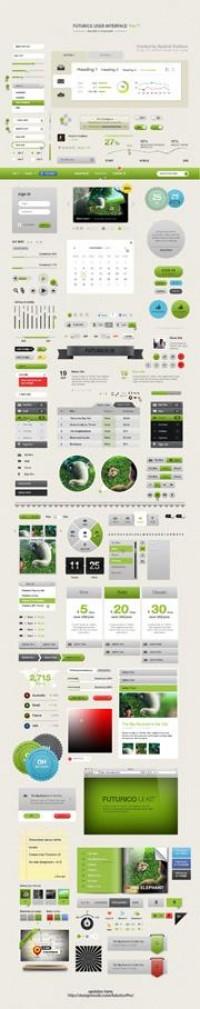 Futurico UI Pro - Advanced User Interface Elements Pack - DesignModo