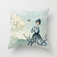 Octopus Fairy Throw Pillow by Belle13 | Society6
