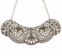 Women - Jewellery - Pendants - Lace Collar Pendant- Walnut