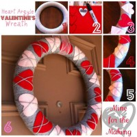 Mine for the Making: Heart Argyle Valentine's Wreath {tutorial}