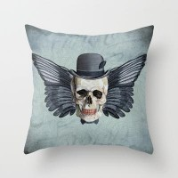 Skull - Fancy Mr X Throw Pillow by Ragnarok | Society6
