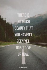 There is so much beauty you haven't seen yet. Don't give up now.