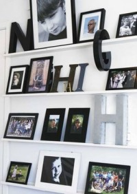 Wall with photographs
