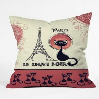 DENY Designs Home Accessories | Belle13 Le Chat Noir Throw Pillow