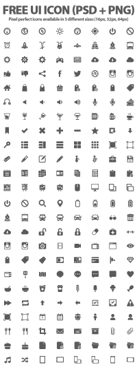 500+ Free UI Icons (PSD + PNG) | Icons | Graphic Design Junction