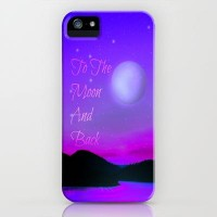 To The Moon iPhone Case by Veronica Ventress | Society6