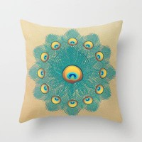 Mandala Peacock Throw Pillow by Belle13 | Society6