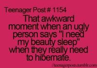 awkward moment beauty sleep- Lol Image
