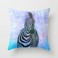 Zebra Throw Pillow by Veronica Ventress | Society6