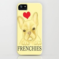 I Heart Frenchies iPhone Case by Veronica Ventress | Society6