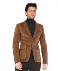 Buy new clásico style mens leather blazer online