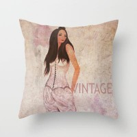 Vintage Throw Pillow by Veronica Ventress | Society6