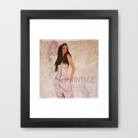 Vintage Framed Art Print by Veronica Ventress | Society6