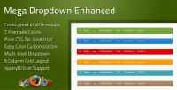 CSS - Mega Dropdown Enhanced | CodeCanyon