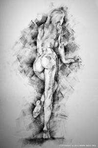 SketchBook Page 34 – female figure drawing - Figure Drawing by Dimitar Hristov - 54ka
