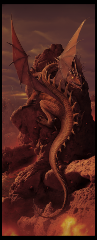 Earth and Fire - Dragon Art - by ~wallace