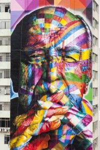 Juxtapoz Magazine - Eduardo Kobra skyscraper mural in San Paulo | Street Art