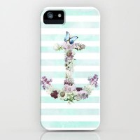 FLORAL ANCHOR iPhone Case by Nika | Society6