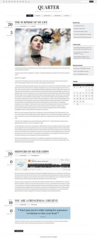 Quarter, WordPress Premium Minimalist Blogging Theme | WP Download