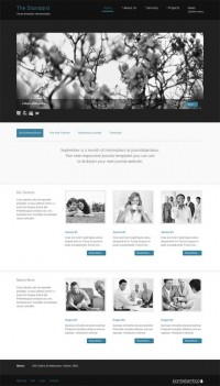 Standard, Joomla Minimalist Business Portfolio Template | Premium Download
