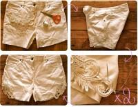 DIY : Lace embellished cut-off shorts // Short en jean à dentelle -