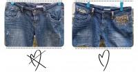 DIY Studded Denim Shorts -
