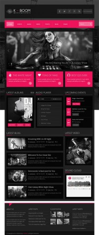 K-Boom, Premium WordPress Responsive Music Theme | WP Download