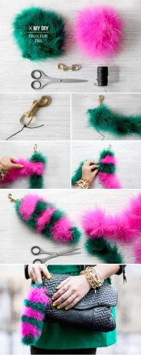 I Spy DIY: MY DIY | Faux Fur Tail